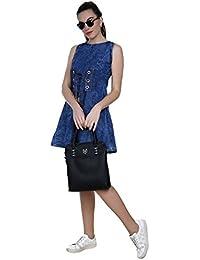 FRANCLO Women,s Denim Midi dress (Best fit 32-36 bust)