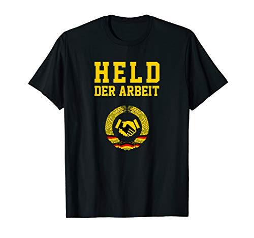 Held der Arbeit mit Handschlag DDR Symbol T-Shirt | Geschenk T-Shirt