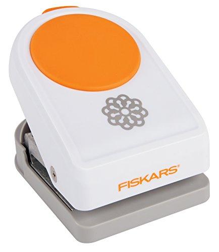 Fiskars Motivlocher Pfingstrose, weiß orange 2396