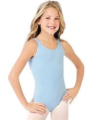 Dance connexxion Camiseta maillot Danza de Capezio–Zapatillas para niños con cuello redondo y tirantes anchos, danza Body para ballet de ballet, algodón, color Weiß, tamaño L (10-12 Jahre)