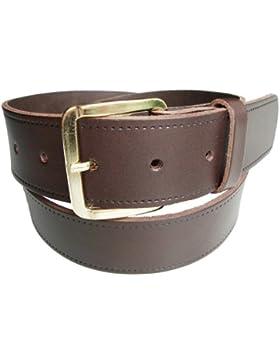 Bullet69–Cinturón rematada en piel negro marrón o marrón claro tallas 74de piel con 114cm, acabado liso