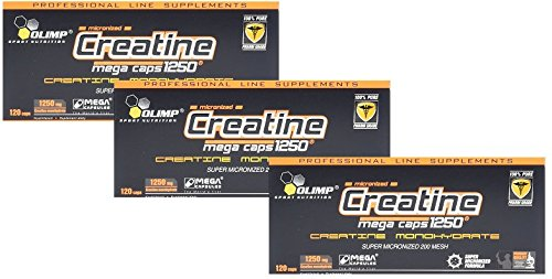 Olimp Creatine 1250 Mega Caps, 3er Pack, (3x 120 Kapseln) - Creatine-120 Caps