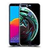 Head Case Designs Smaragdgruen Acryl Giessende Planeten Soft Gel Hülle für Huawei Honor 7C / Enjoy 8