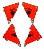 T-EQUIP COR-150, set da 4 carrelli angolari, senza gambe, capacità 150 kg, colore rosso