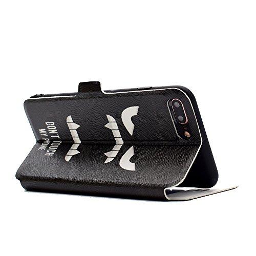 Apple iPhone 7 Plus 5.5 hülle, Voguecase Kunstleder Tasche PU Schutzhülle Tasche Leder Brieftasche Hülle Case Cover (Sichtfenster/Erde) + Gratis Universal Eingabestift Sichtfenster/My Phone 10
