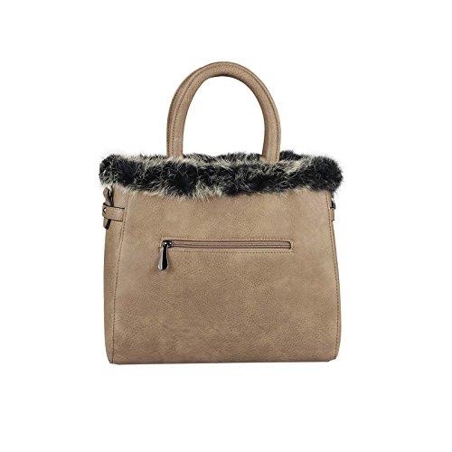 OBC Only-Beautiful-Couture, Borsa a spalla donna marrone cognac ca.: 30x26x12 cm (BxHxT) talpa
