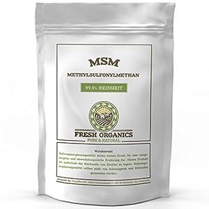 MSM PULVER | 2 kg – 6 kg | Methylsulfonylmethan | 99,9% Reinheit – organischer Schwefel | Ohne Zusatzstoffe (2kg)