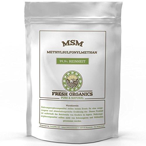 MSM PULVER | 2 kg – 6 kg | Methylsulfonylmethan | 99,9% Reinheit – organischer Schwefel | Ohne Zusatzstoffe + Vegan