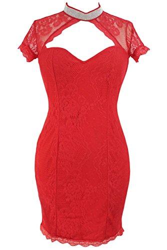 shelovesclothing - Robe - Femme bleu bleu 36-38 red