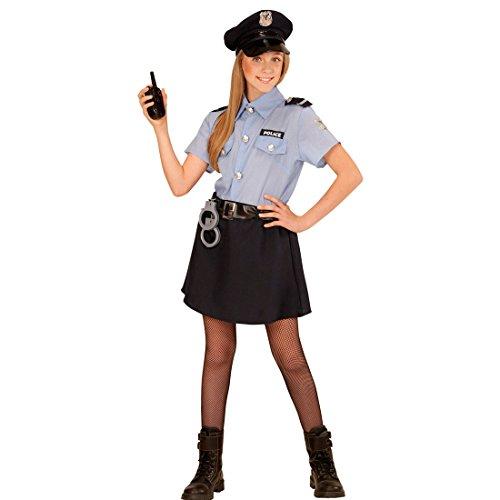 Kinder Polizistin Kostüm Polizeikostüm Mädchen L 158 cm Kinderkostüm Politesse Polizistinkostüm Uniform Polizei Verkleidung Polizistinnenkostüm