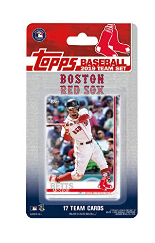 Boston Red Sox 2019 Topps Factory Sealed Limited Edition 17 Karten Team Set mit Dustin Pedroia und Mookie Betts Plus