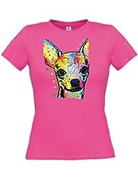 Ethno Designs Streetwear - Chihuahua - Chien T-Shirt pour Femmes - Loisirs et Fête Shirt - slim fit