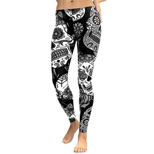 Yoga Hosen Damen Sannysis Frauen Hohe Taille Gym Yoga Laufen Fitness Leggings Hosen Trainingskleidung (Schwarz, M) (Herz Lounge-hose)