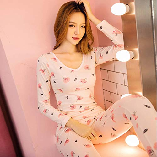 WOOAI 2018 Robe sexy Pyjamas für Frauen Nachtwäsche Nachtwäsche Plus Größenwinter Polyester Kostüm Spitze Nighties weibliche Pijamas gesetzt, QMS6009, XXL