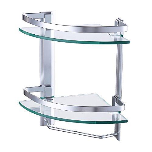 KES Aluminio Templado Estante Vidrio Esquina