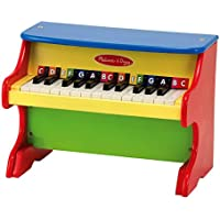 Melissa & Doug Learn-to-Play Piano With 25 Keys and Colour-Coded Songbook of 9 Songs