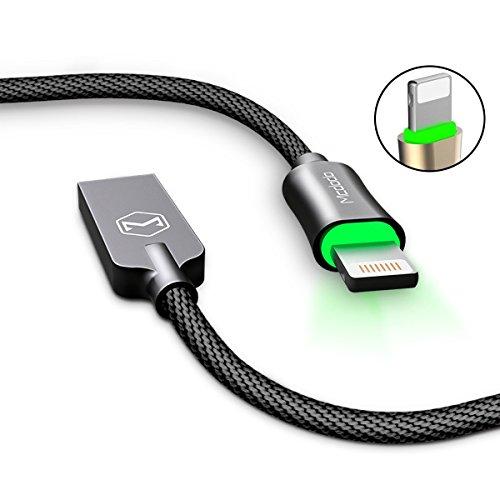 AICase Cavo di Ricarica e Sincronizzazione Dati per Dispositivi Cavo LED intelligente con auto-disconnessione,Cavo di Ricarica per Phone X, 8,8 Plus,7 Plus,Pad,Pod