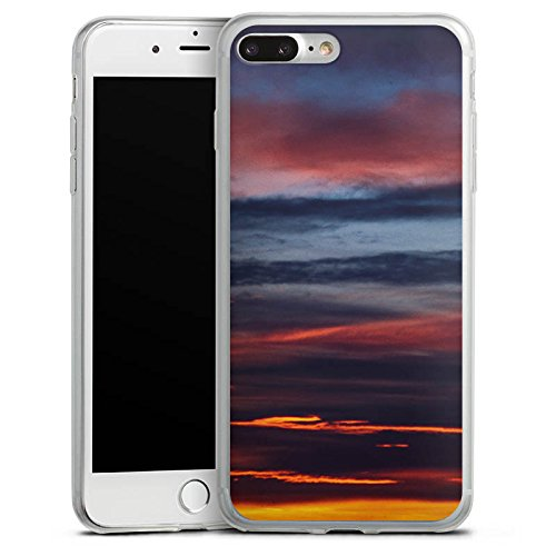 Apple iPhone X Slim Case Silikon Hülle Schutzhülle Sonnenuntergang Himmel Wolken Silikon Slim Case transparent