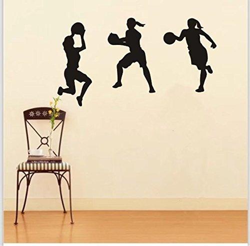 ball Sport Wandtattoo Aufkleber DIY Kunst Dekor Wand Vinyl Home Zimmer Büro Aufkleber (Basketball-dekor)