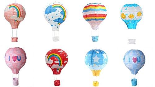 matissa 8Stück Hot Air Ballon Papier Laterne Hochzeit Party Dekoration Craft Lampenschirm 10