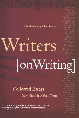 Writers on Writing por John Darnton