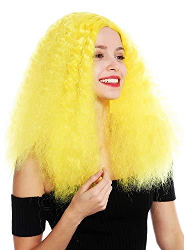Peluca amarilla larga con rizos