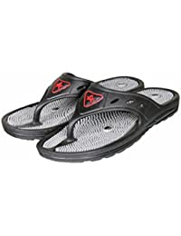 Unistar Acupressure Slippers; GH-01-Blk For Pain Relief