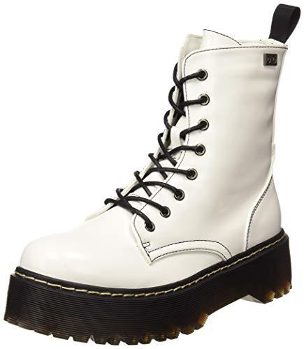 COOLWAY Damen Abby Combat Boots, Weiß (Wht 700), 39 EU