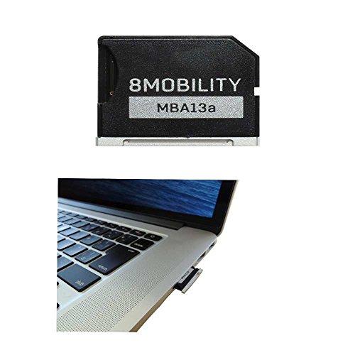 Adattatore di memoria MicroSD in alluminio per MacBook Air da 13 pollici (da fine 2010 a 2017) - Argento di 8Mobility