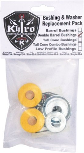 Khiro Double Barrel Bushing/Wash Kit 92a M-Hard Yellow by Khiro -