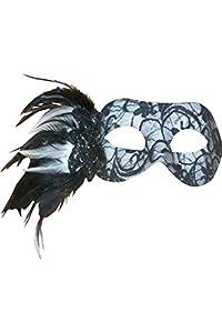 Aptafêtes lp53168-Lobo Chic Encaje y plumas-Talla única