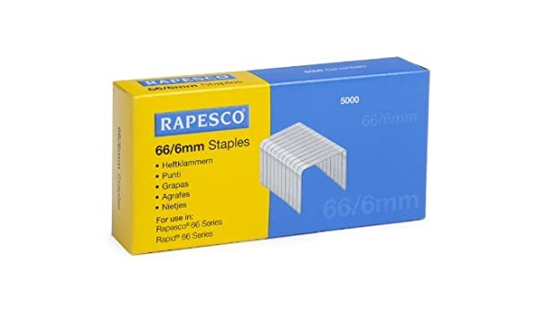 RAPESCO Heftklammern 66//6 verzinkt 5.000 Stück