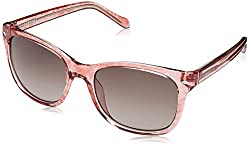 Fossil Womens 3006/s Square Sunglasses, Pink Havn, 55 mm