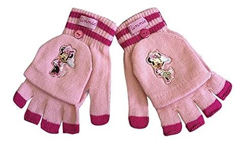 Disney - Mädchen Minnie Mouse Winterthermal Fäustling Fäustlinge Fingerlose Handschuhe in Cerise und Rosa (MMG1)