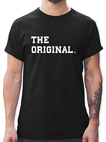 Partner-Look Familie Papa - The Original The Remix Eltern - XXL - Schwarz - L190 - Herren T-Shirt und Männer Tshirt