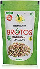 BROTOS Moth (Matki) Bean Sprouts with Masala Sachet Inside,80g(After rehdration it gives 250 gm)
