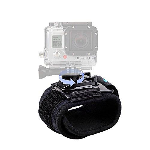 CISNO ruotabile di 360gradi fotocamera cinturino da polso fascia del supporto per bicicletta per GoPro Hero 1233+ 4/4sessione