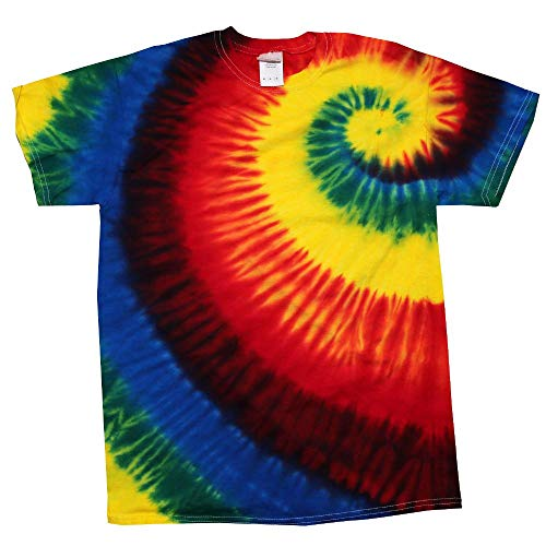 Colortone - Unisex Batik T-Shirt \'Swirl\' / Rainbow Burst, 5XL