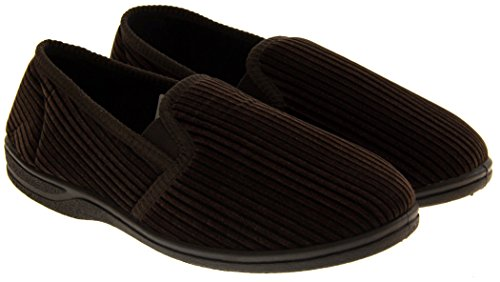 Footwear Studio Élastiquée Gousset Comfort Pantoufles Hommes Brun