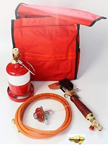 Bundle Weichlötgarnitur mit Umfüllstutzen Lötkolben Kleinstflasche in Tasche Set