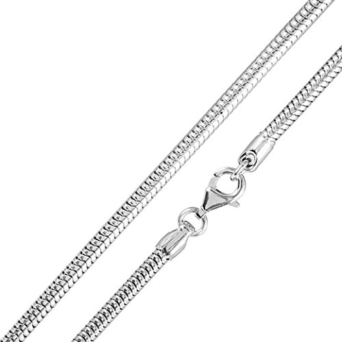MATERIA Schlangenkette silber 925 - Halskette Damen 1,0mm Silber Kette in 11 Längen 40-120 cm verfügbar #K33, Länge Halskette:40 cm