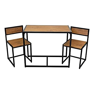 Harbour Housewares 2 Person Space Saving, Compact, Kitchen Dining Table & Chairs Set - inexpensive UK light shop.