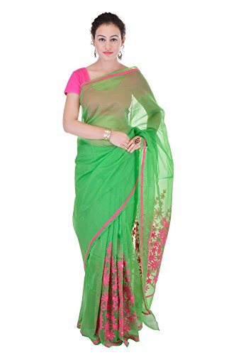 Rajasthani Look Women's Aari Work Pure Kota Supernet Cotton Saree With Blouse...