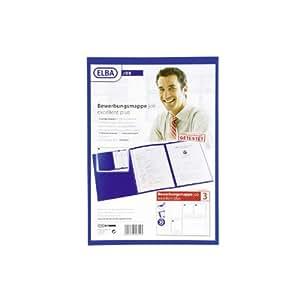Elba 36410DB Bewerbungsmappe job execellent für DIN A4 dunkelblau Karton 320g/m²