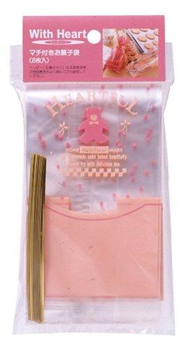 Pearl Cuore con tassello sacchetto di caramelle Orso 8 pezzi D-2169 (Giappone import / Il pacchetto e il manuale sono in giapponese)
