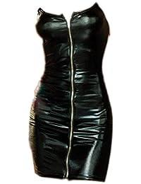 Ranboo Frauen Dessous Wet Look Erotische Metallic Nacht Rock Center Zipper