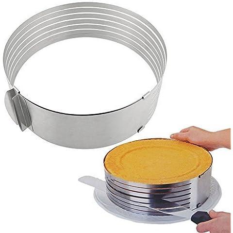Edealing 1 PCS Multi-Layer Cake cortador Anillo Slicer Hornear Cocina Suministros Pasteles fiesta de cumpleaños
