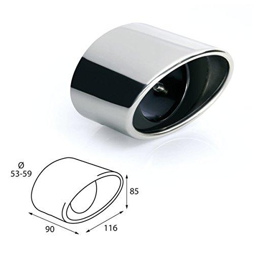 ER086 - Acero inoxidable de tubo de escape del tubo de escape de para atornillar Embellecedor de tubos de escape universales