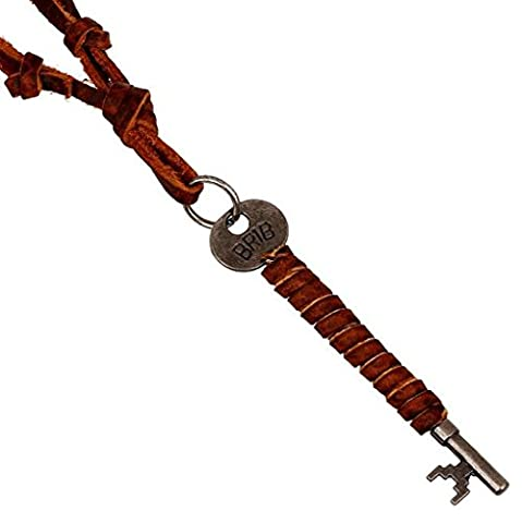amdxd Bracelet jonc plaqué or Hommes–Collier avec pendentif Femme–Bronze Clé