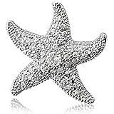 Bling Jewelry Pavé Cubic Zirkonia Seestern Anhänger 925er Sterling-Silber